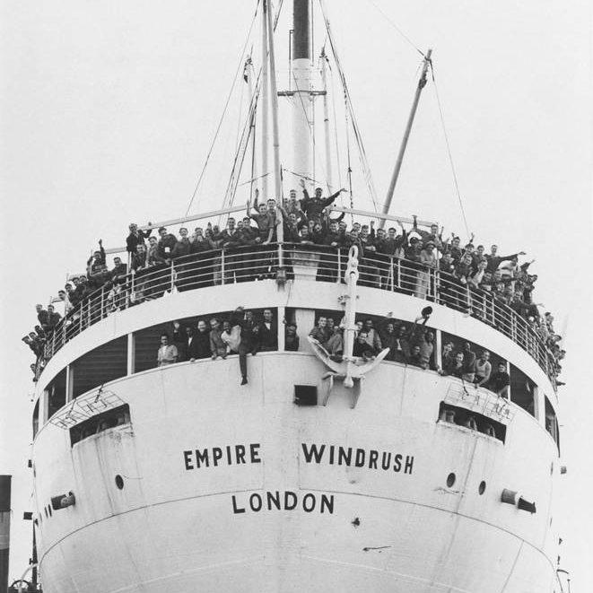 the Empire Windrush ship